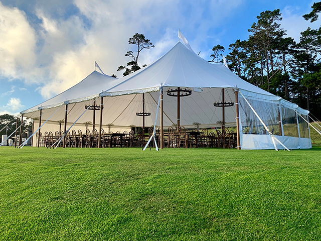 Tidewater Sailcloth Tents for rent in Monterey Peninsula