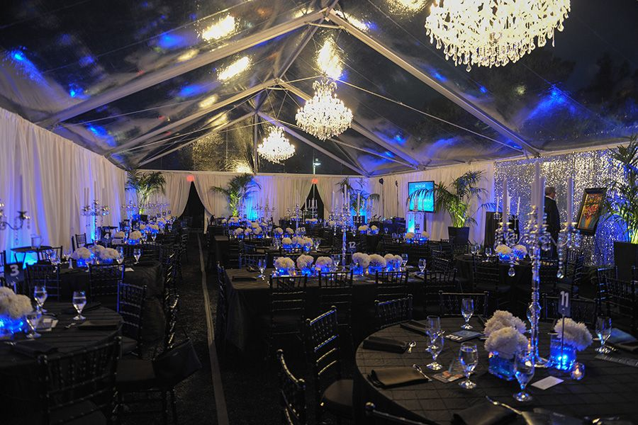 5. Crystal Chandeliers, Clear Tent