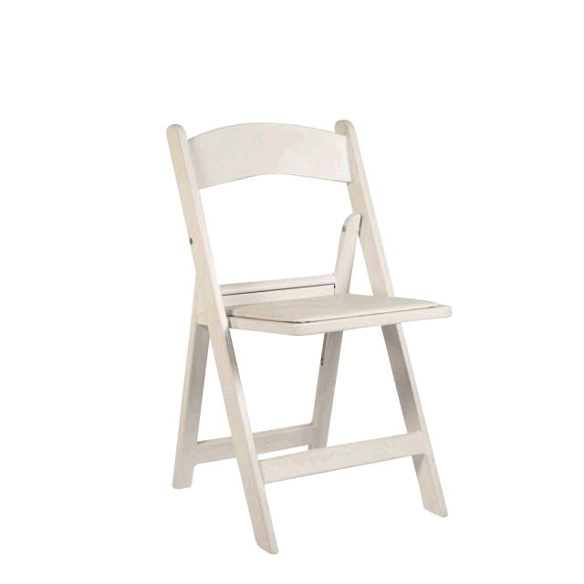 Where to rent Folding Chair Resin - White in Monterey Peninsula