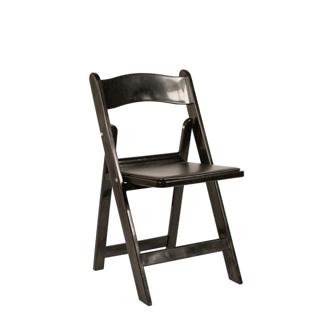 Where to rent Folding Chair Resin - Black in Monterey Peninsula