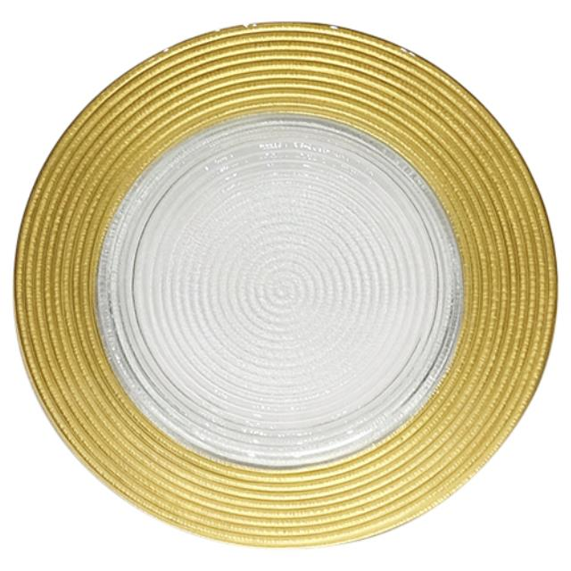 Where to find Charger Glass - 12  Gold Rim in Monterey