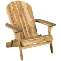 Rental store for Adirondack Chair - Wood - Natural in Monterey CA