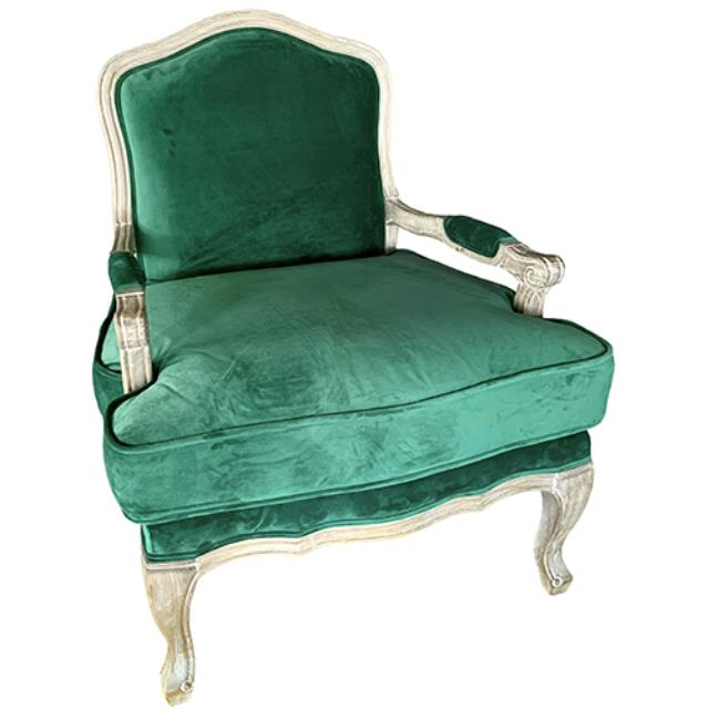 Where to find Millie Chair - Emerald Velvet in Monterey