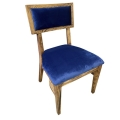 Rental store for Steinbeck Chair - Walnut - Navy Velvet in Monterey CA