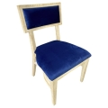 Rental store for Steinbeck Chair-Blonde-Navy Velvet in Monterey CA