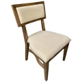 Rental store for Steinbeck Chair - Walnut - Ivory Linen in Monterey CA