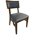 Rental store for Steinbeck Chair-Walnut-Steel Blue Velvet in Monterey CA
