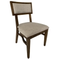 Rental store for Steinbeck Chair-Walnut- Light Gray Linen in Monterey CA