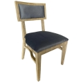 Rental store for Steinbeck Chair-Blonde-Steel Blue Velvet in Monterey CA