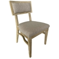 Rental store for Steinbeck Chair-Blonde-Light Gray Linen in Monterey CA