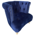 Rental store for Addison Chair - Navy Velvet in Monterey CA