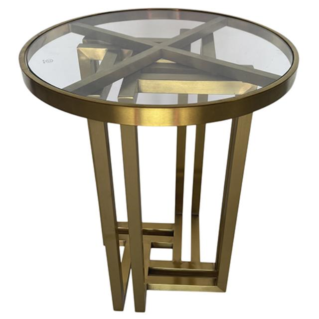 Where to find Hudson End Table - Gold w  Glass Top in Monterey