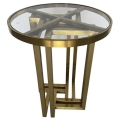 Rental store for Hudson End Table - Gold w  Glass Top in Monterey CA