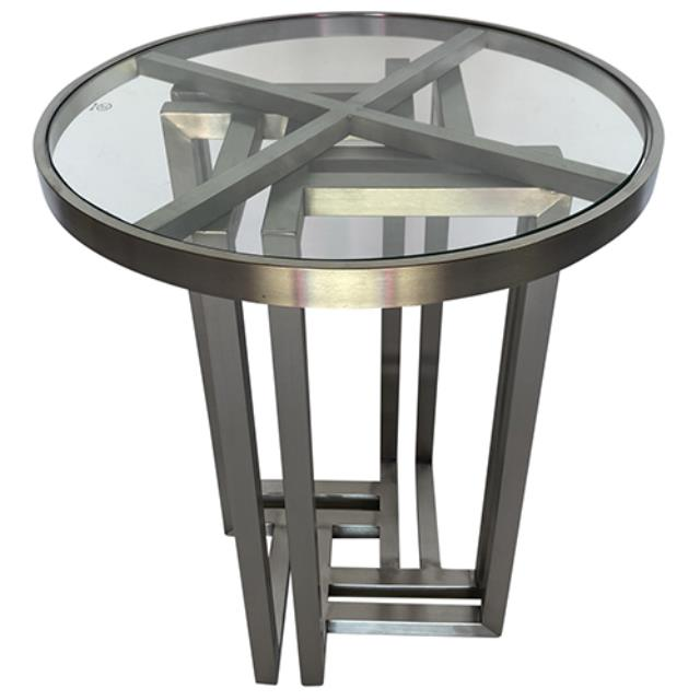 Where to find Hudson End Table - Silver w  Glass Top in Monterey