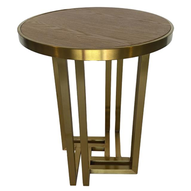 Where to find Hudson End Table - Gold w  Wood Top in Monterey