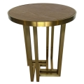 Rental store for Hudson End Table - Gold w  Wood Top in Monterey CA