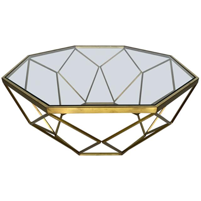 Where to find Hudson Coffee Table - Gold w  Glass Top in Monterey