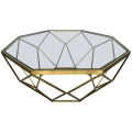 Rental store for Hudson Coffee Table - Gold w  Glass Top in Monterey CA