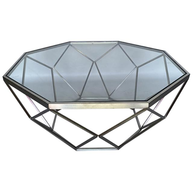 Where to find Hudson Coffee Table -Silver w  Glass Top in Monterey