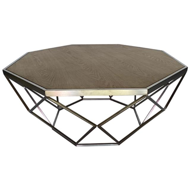 Where to find Hudson Coffee Table - Silver w  Wood Top in Monterey