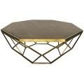 Rental store for Hudson Coffee Table - Gold w  Wood Top in Monterey CA