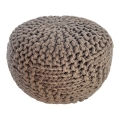 Rental store for Hazel Pouf - Taupe - 20 x20 x14 in Monterey CA