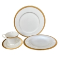 Rental store for Brixton Dinnerware - Gold Rim in Monterey CA