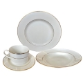 Rental store for Yerevan Dinnerware - Ivory w  Gold Rim in Monterey CA