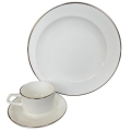 Rental store for Vienna Dinnerware - Silver Rim in Monterey CA