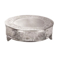 Rental store for Cake Stand  Round  - Silver Ornate in Monterey CA
