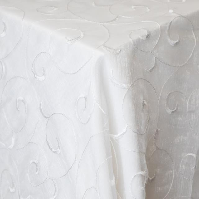 Where to find Swirl Organza - White in Monterey