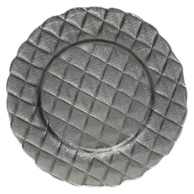 Where to find Charger Glass - 13  Quilted Charcoal in Monterey