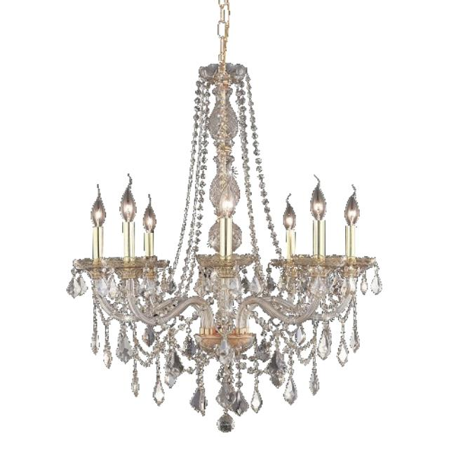 Where to rent Crystal Chandelier - 28  Rose Gold in Monterey Peninsula