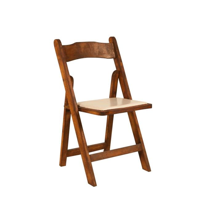 Where to rent Folding Chair - Mahogany w  Tan Pad in Monterey Peninsula