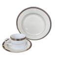 Rental store for Grace Dinnerware - Double Silver Rim in Monterey CA