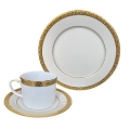 Rental store for Sophia Dinnerware - Double Gold Rim in Monterey CA