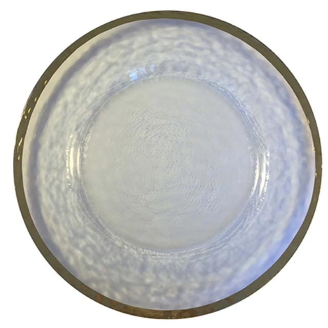 Where to find Charger Glass - 13  Hammered w  Gold Rim in Monterey