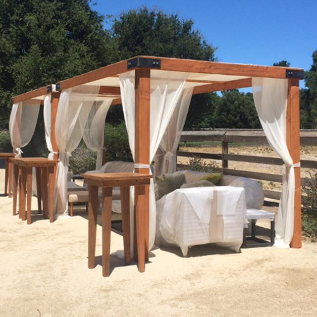 Where to find Wood Cabana w  Fabric - 91  x 91  x 96 h in Monterey
