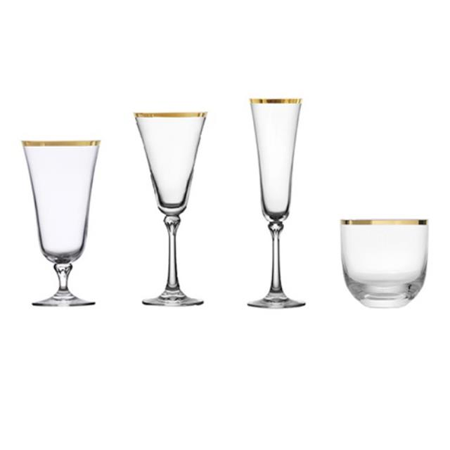 Where to find Charlotte Gold Rim Glassware in Monterey